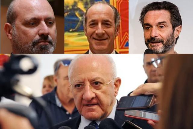 Vincenzo De Luca-Stefano Bonaccini-Luca Zaia-Arturo Fontana