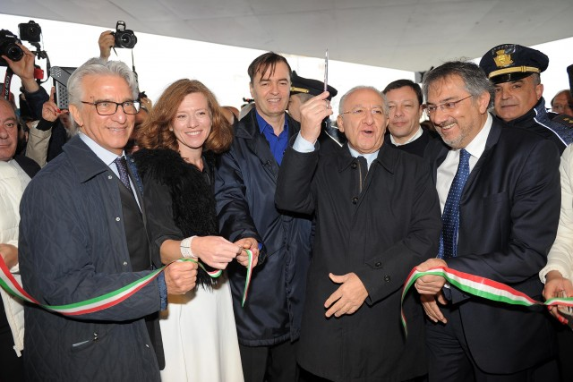 Vincenzo Napoli-Vincenzo De Luca-Domenico De Maio-stazione inaugurazione-8275