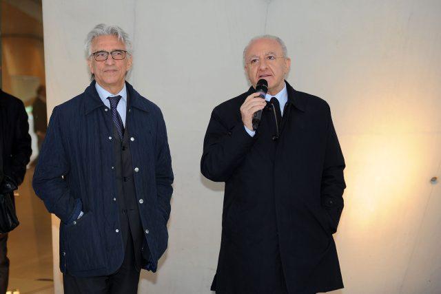 Vincenzo Napoli-Vincenzo De Luca-stazione inaugurazione-8275
