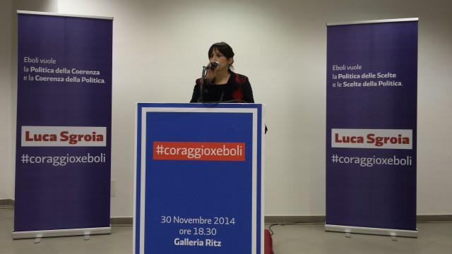 Vittoria Copeti-Sala Ritz-Eboli-Manifestazione Sgroia