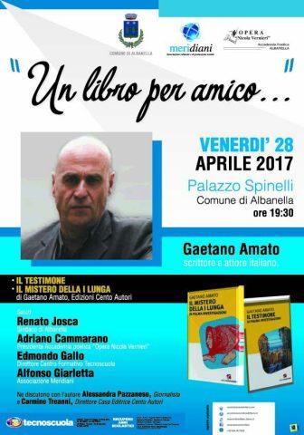 Albanella-rassegna letteraria-un libro per amico-Gaetano Amato