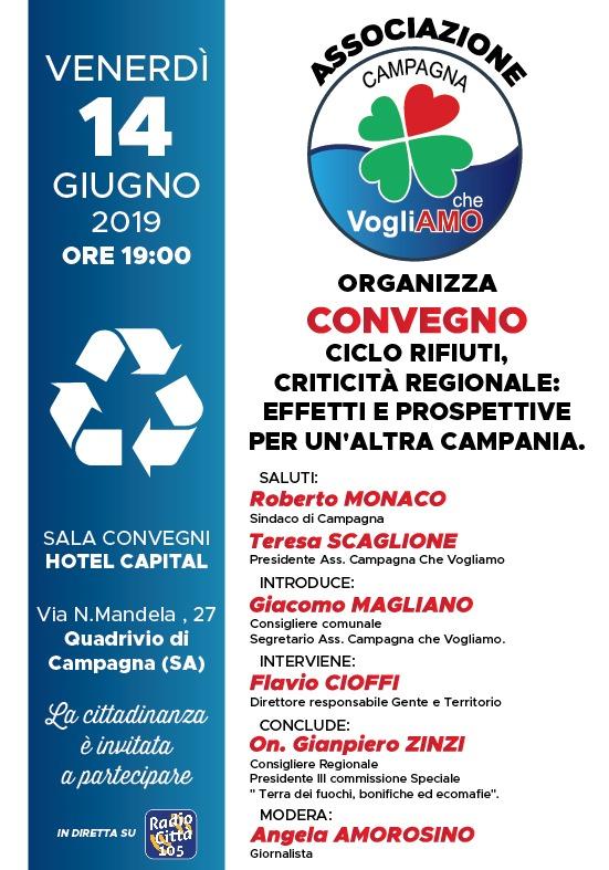 Convegno a Campagna sul ciclo dei rifiuti