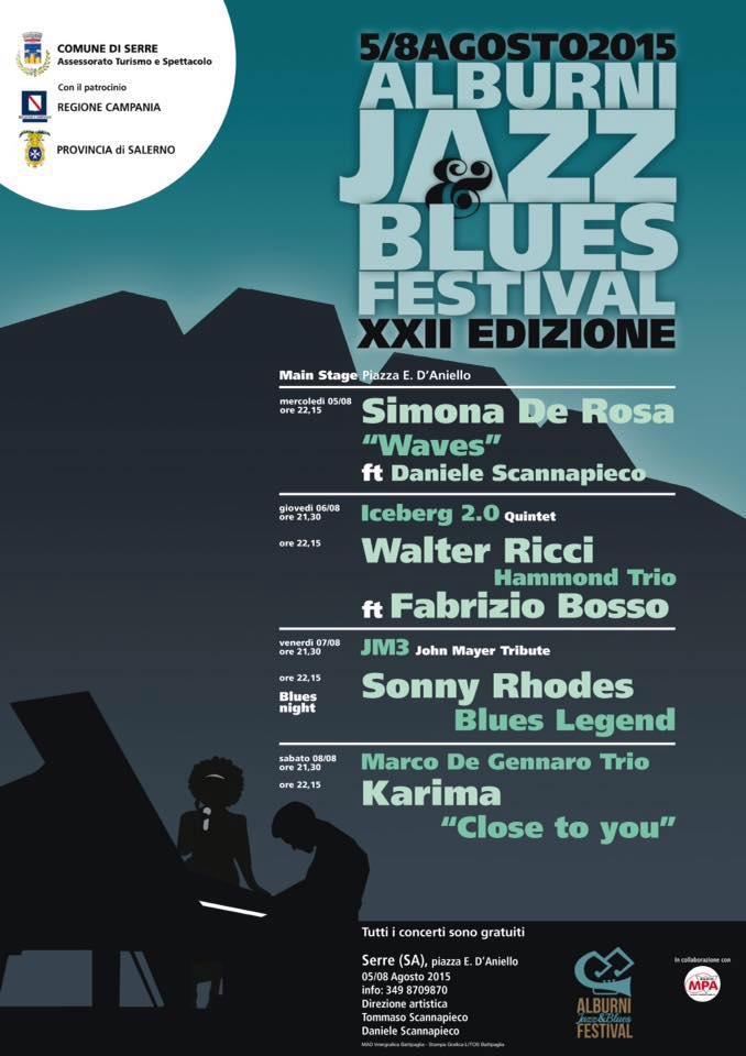 XII edizione di Alburni jazz & Blues Festival di Serre-manifesto