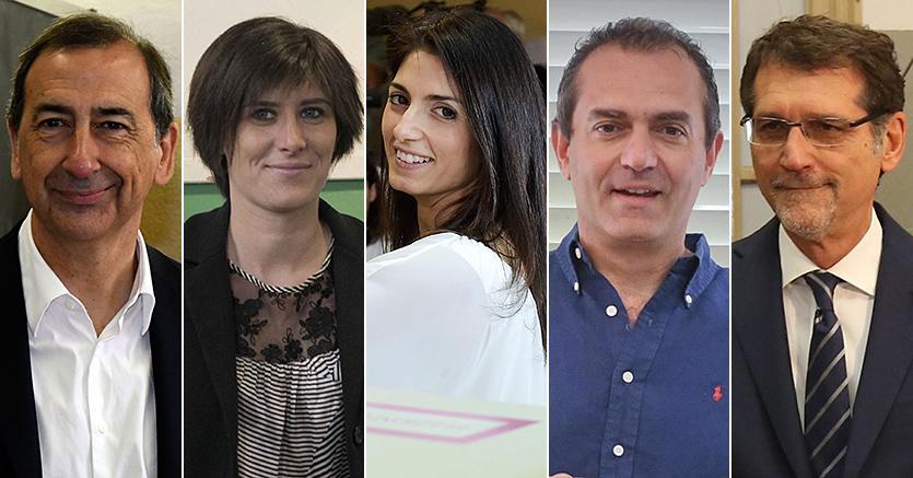 amministrative-2016-ballottaggi-vincitori-mi-to-ro-na-bo-Sala-Appendino-Raggi-De Magistris-Merola