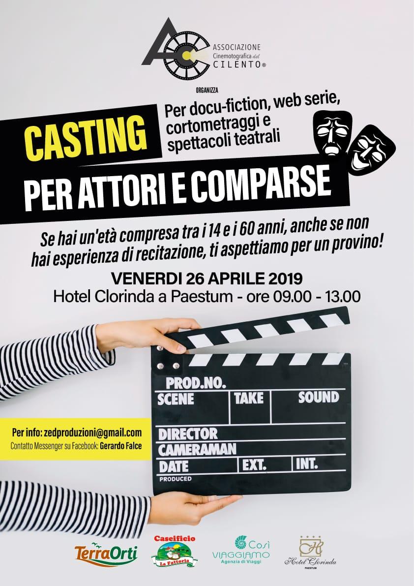 casting per attori e comparse a Paestum