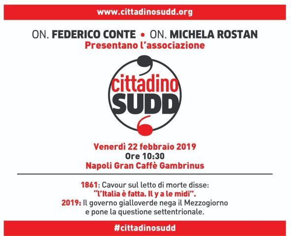 Napoli-cittadinosud invito-Conte-Rostan