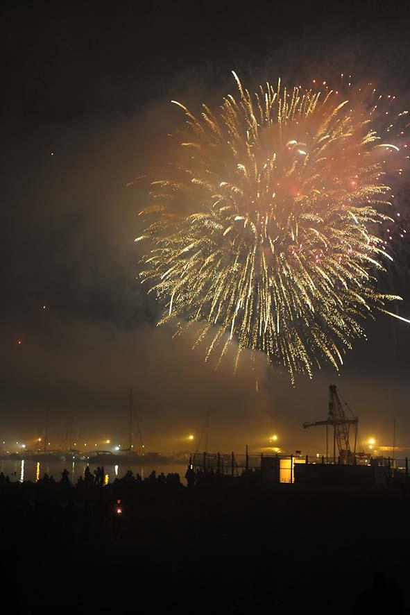 Fuochi d'artificio a mare