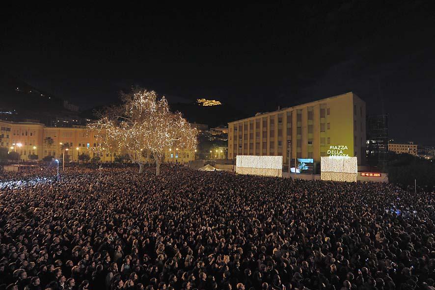 Piazza della libertà, il pubblico - concerto fine anno