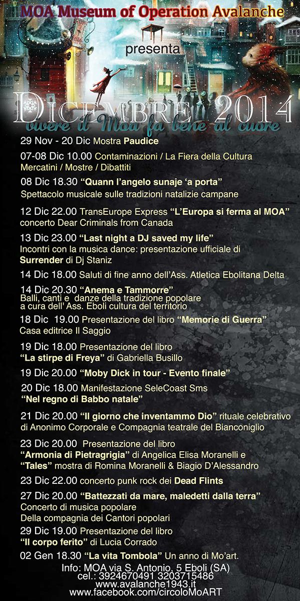 eventi dicembre 2014 MOA