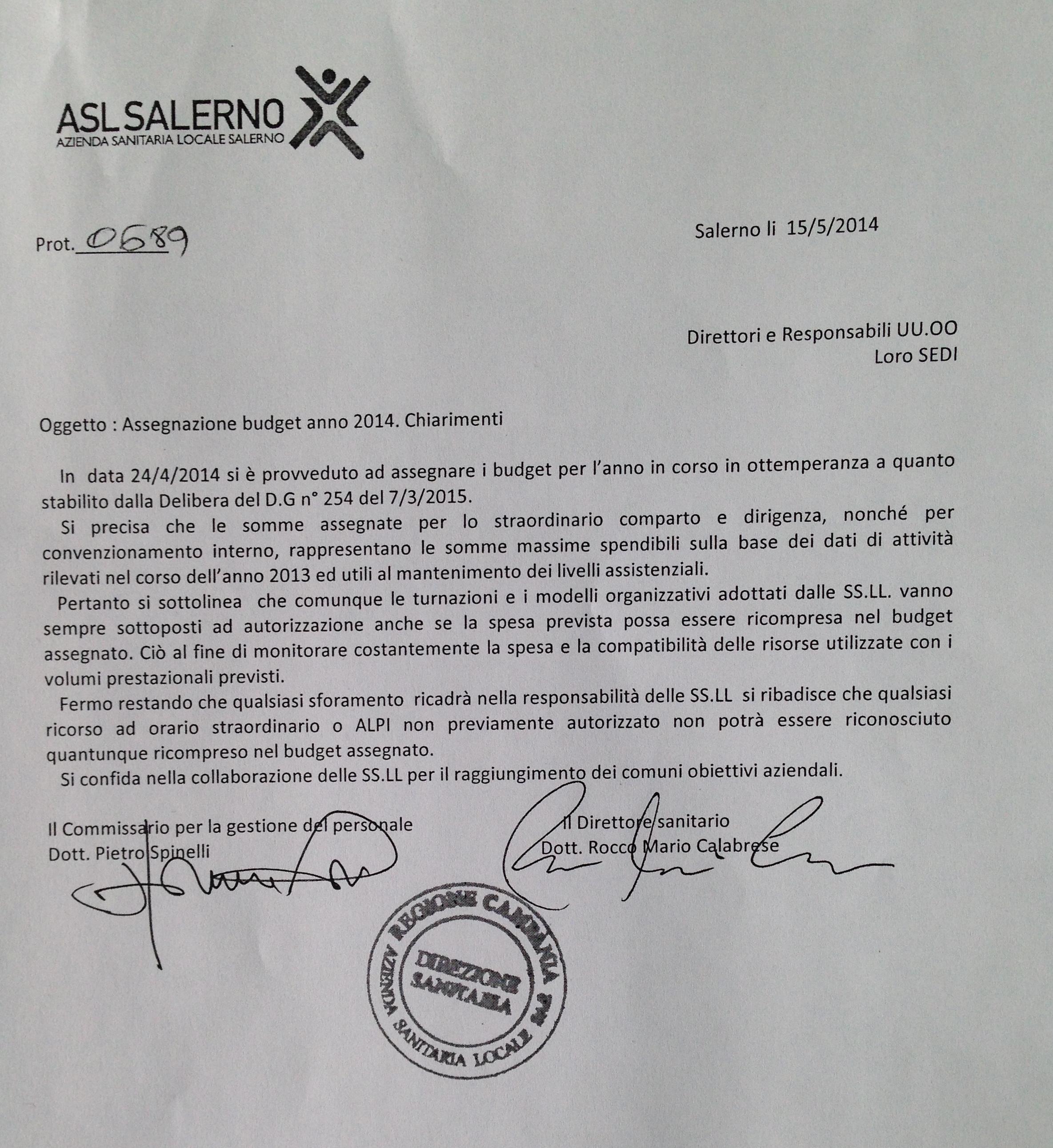 lettera firmata da Spinelli