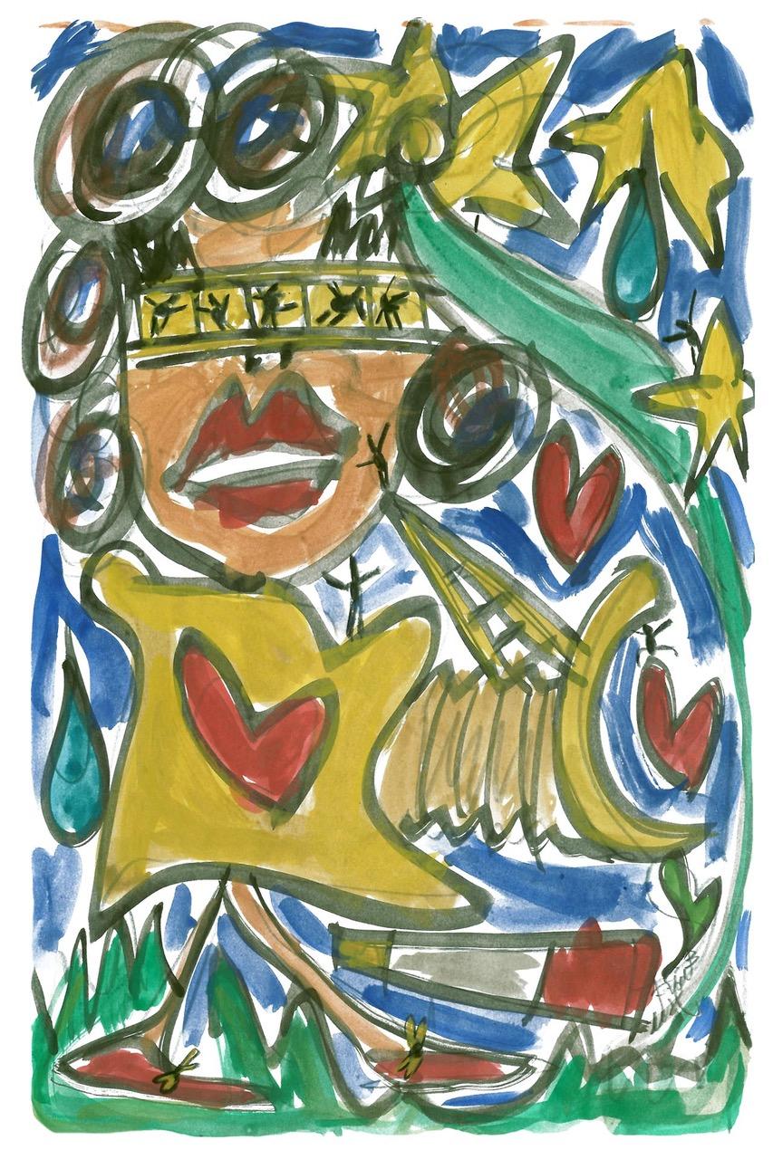 francesco-cuomo-design-da-collezione-la-serenità-star-opera-arte-contemporanea-acquerello