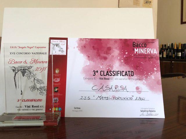 Istituto Agrario Eboli-premio rosso Igt Casarsa