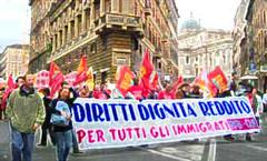 Manifestazione pro immigrati