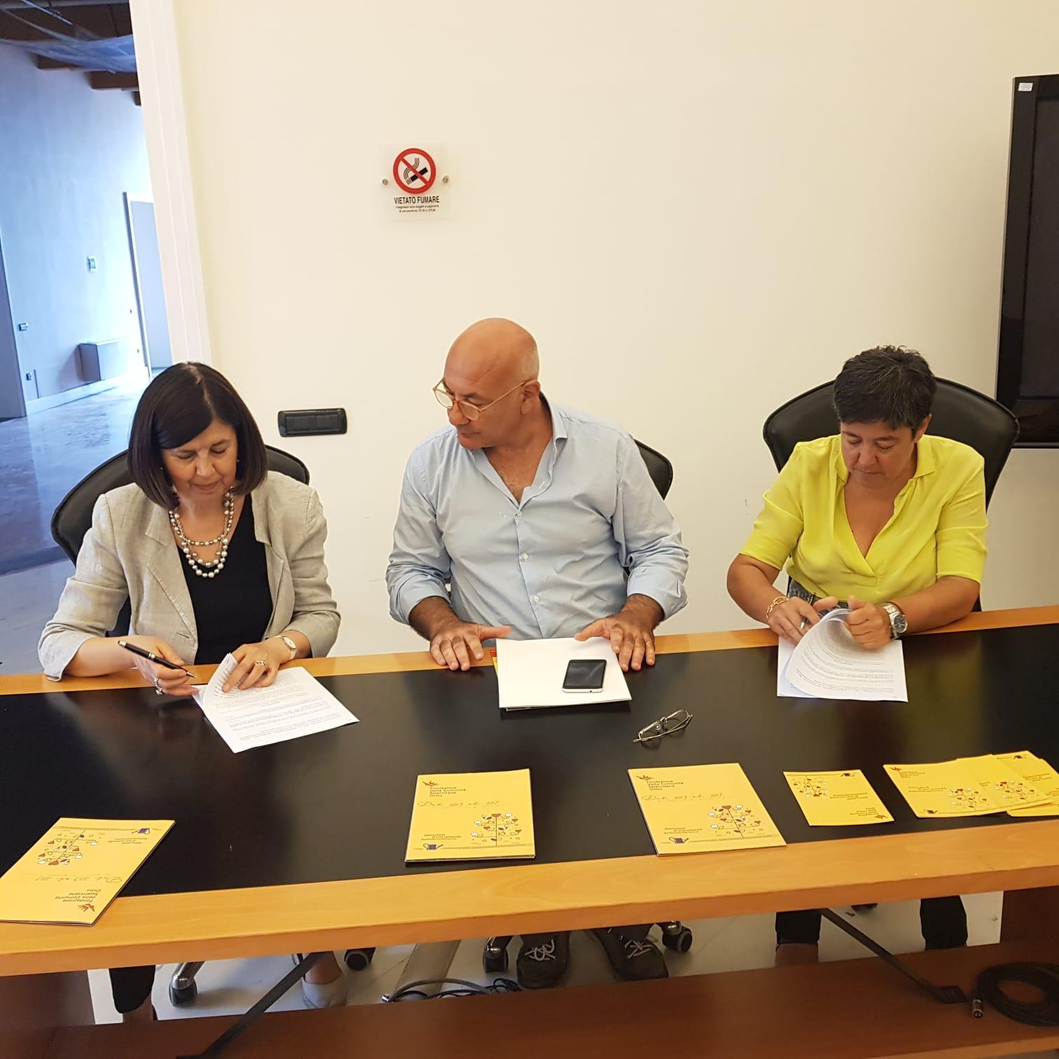 firma protocollo intesa - Soprintedendenza - Fondazione Salernitana-Casule-Faiella-Autuori