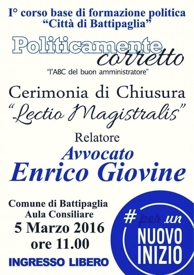 lectio magistralis Enrico Giovine
