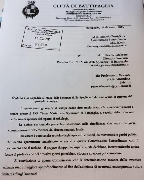 lettera commissario iorio 1