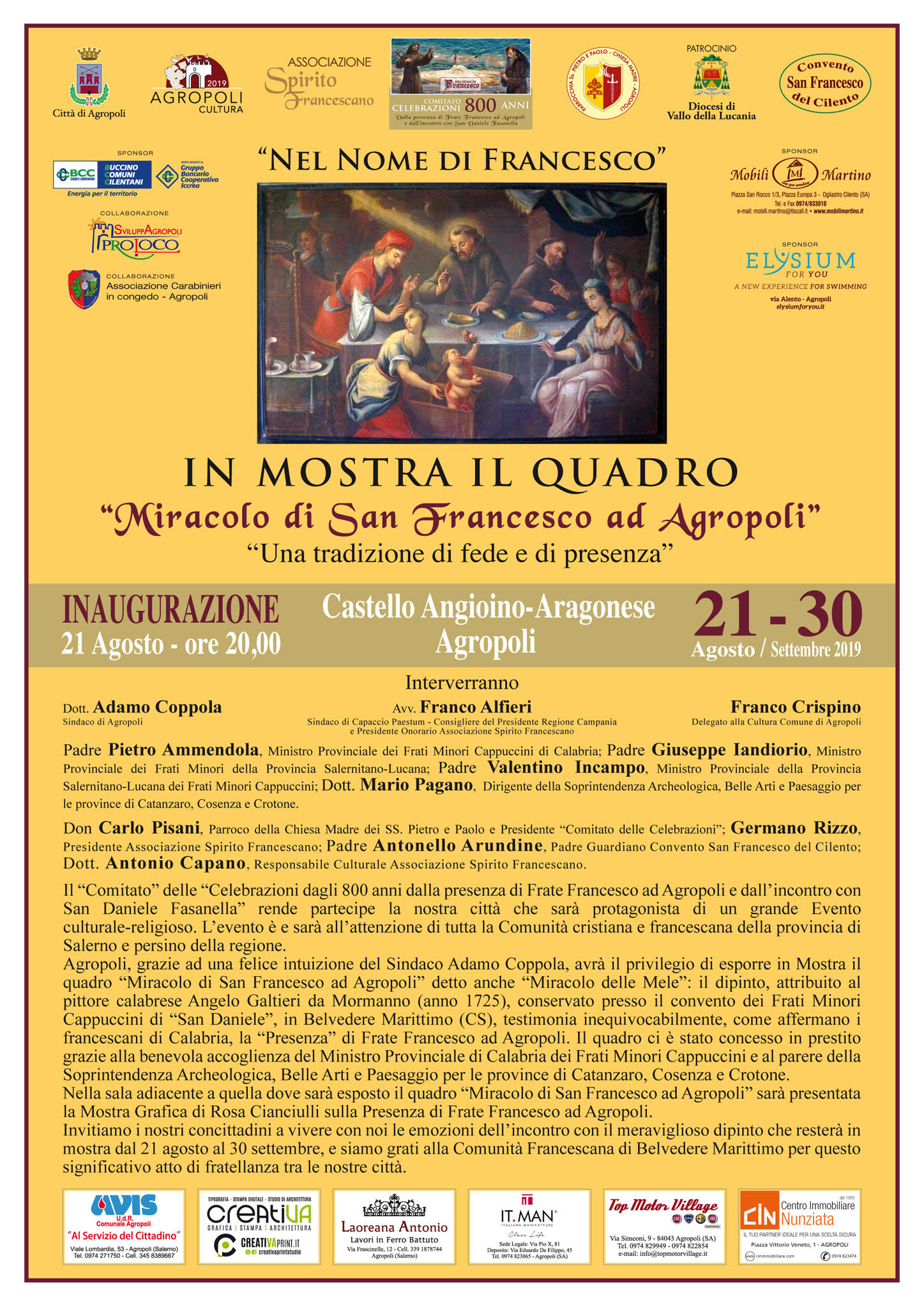 locandina-Miracolo di San Francesco ad Agropoli