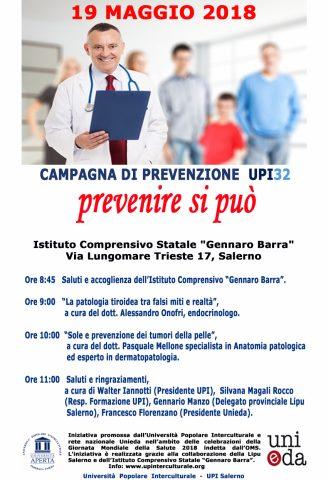 locandina Prevenire si può - UPI 32