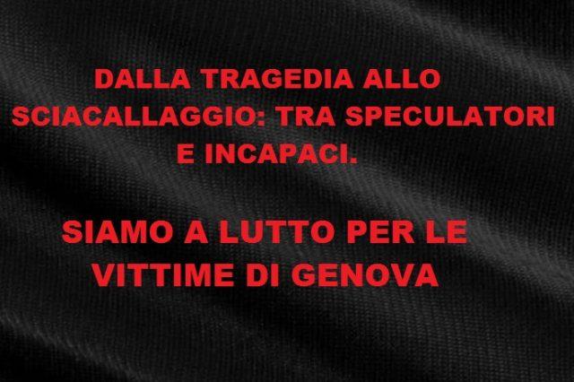 lutto per Genova