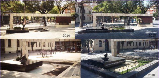 monumento Giudice Prima e dopo
