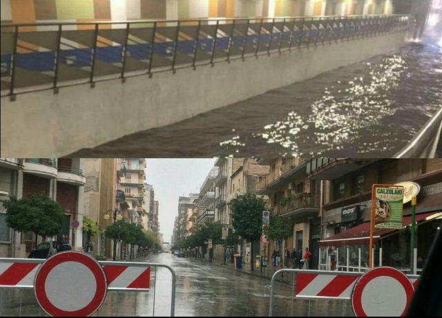 Allagamenti-Battipaglia-sottopasso via Roma-via Mazzini