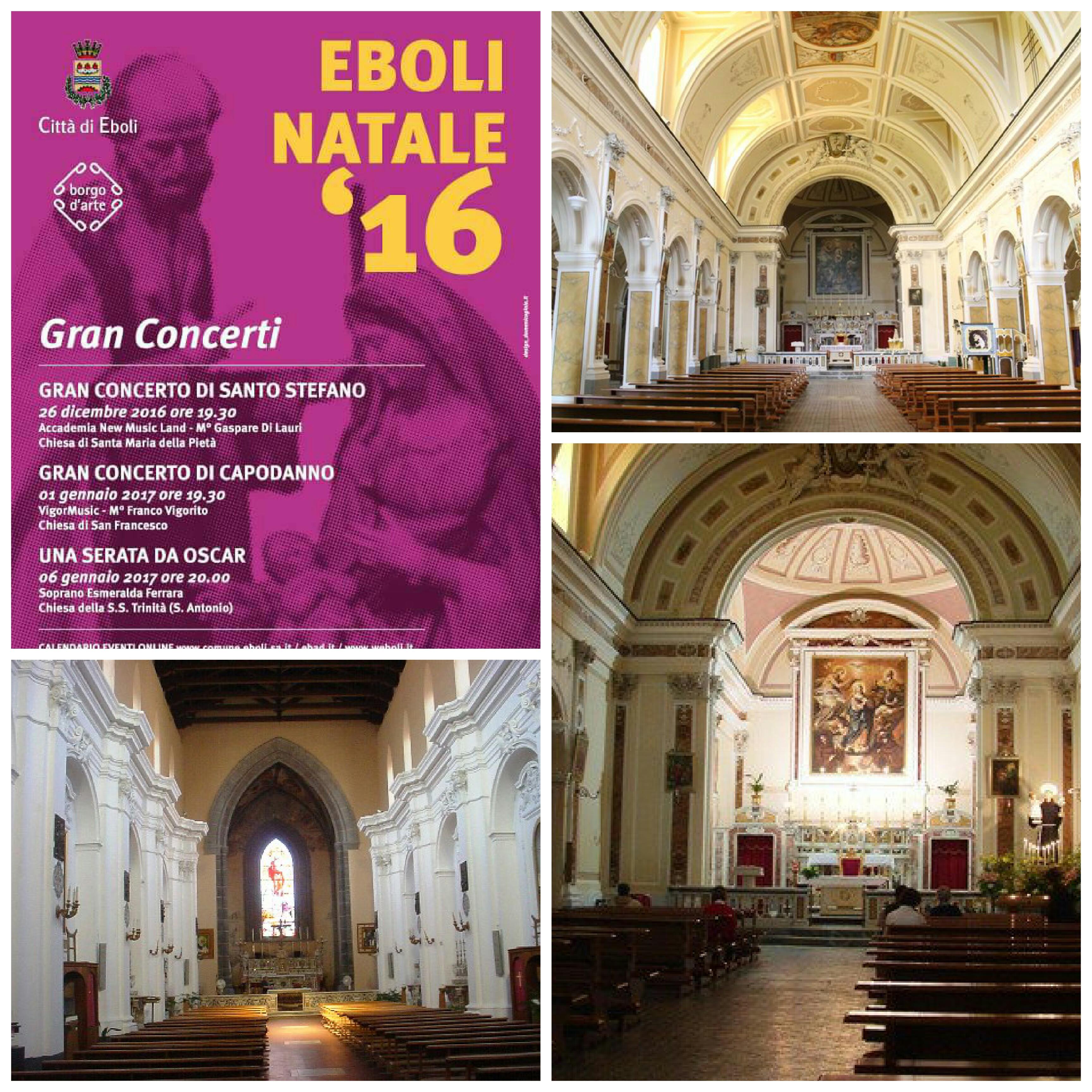 Eboli Natale '16-Tre concerti per tre chiese