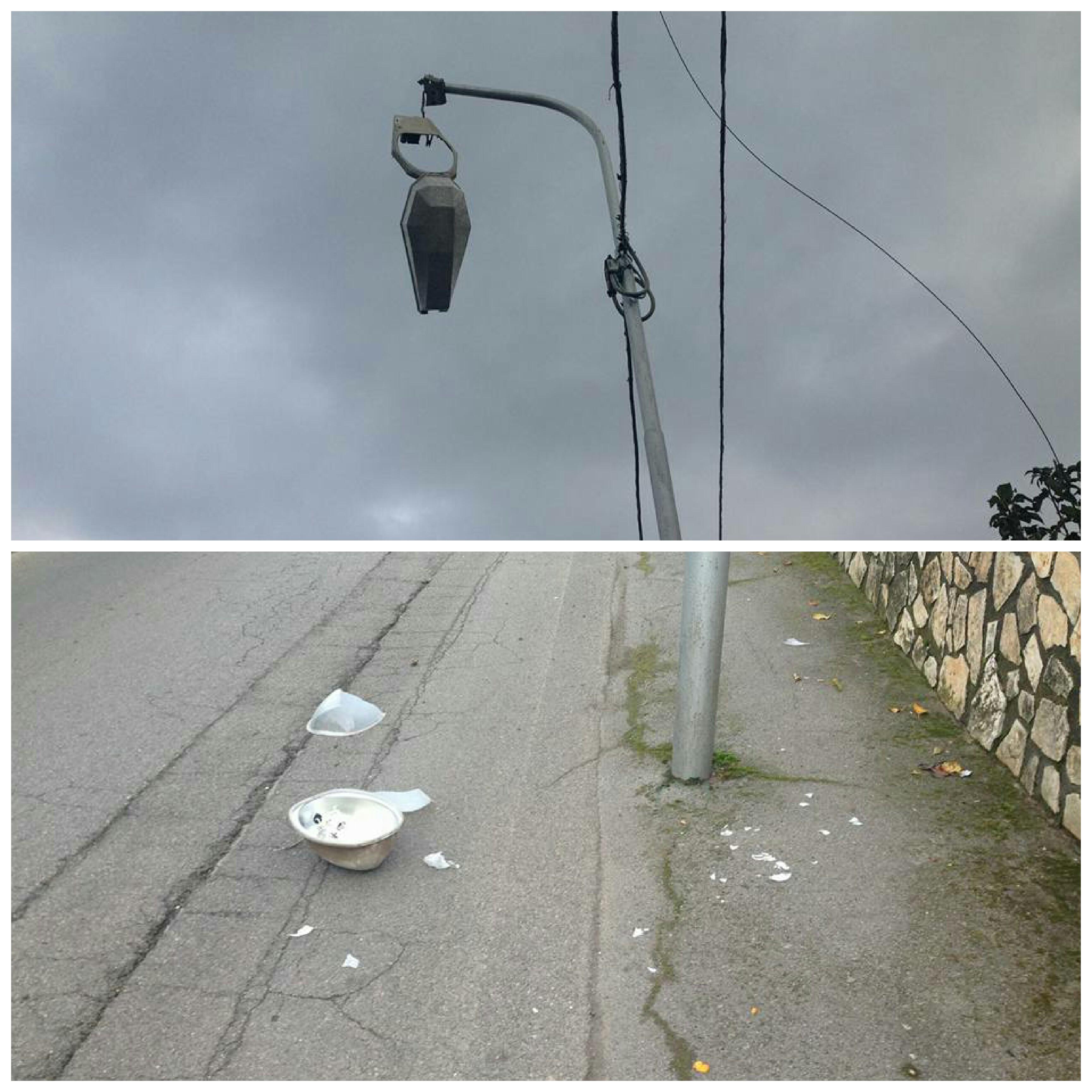 Scafati-lampione ceduto