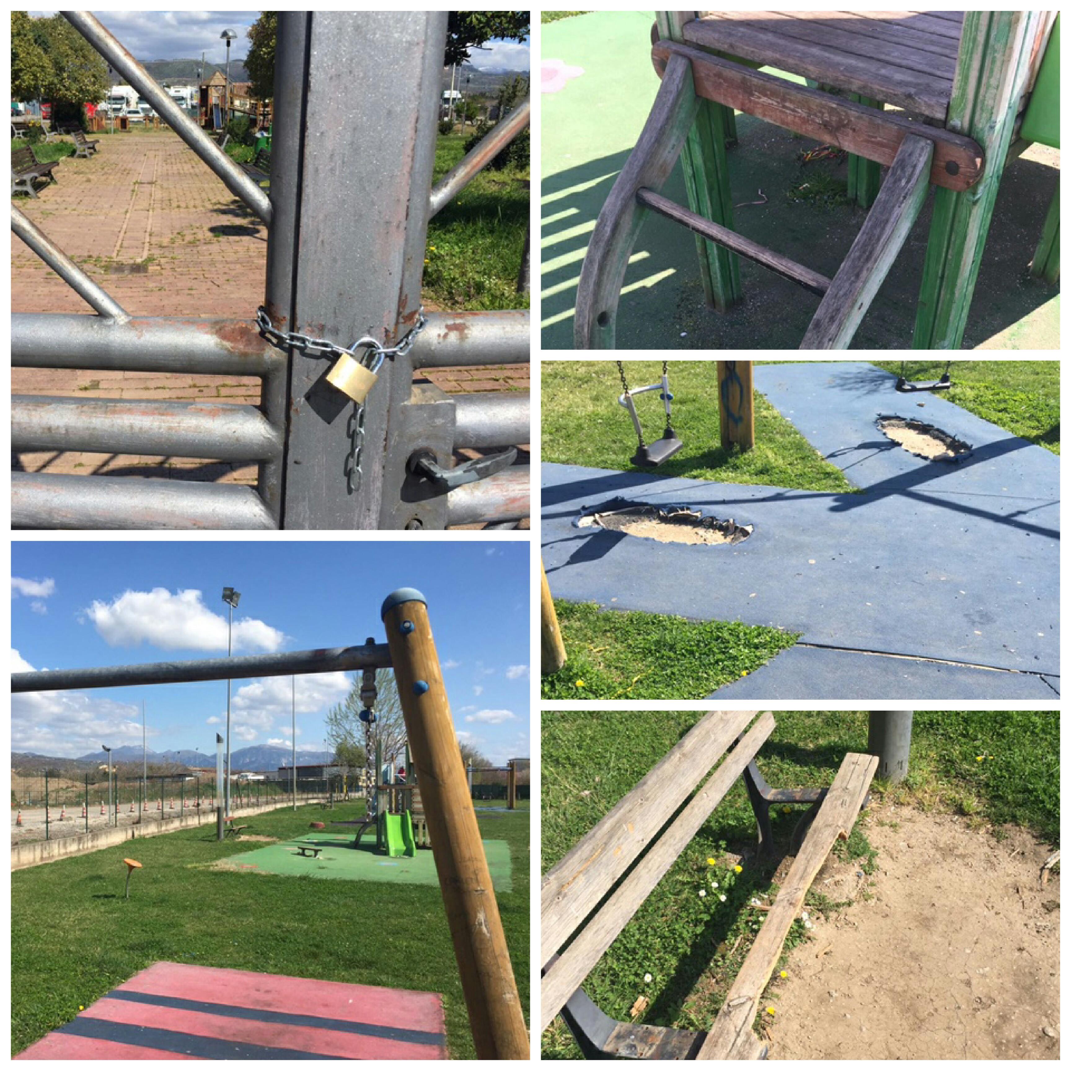 Pontecagnano-degrado parco giochi