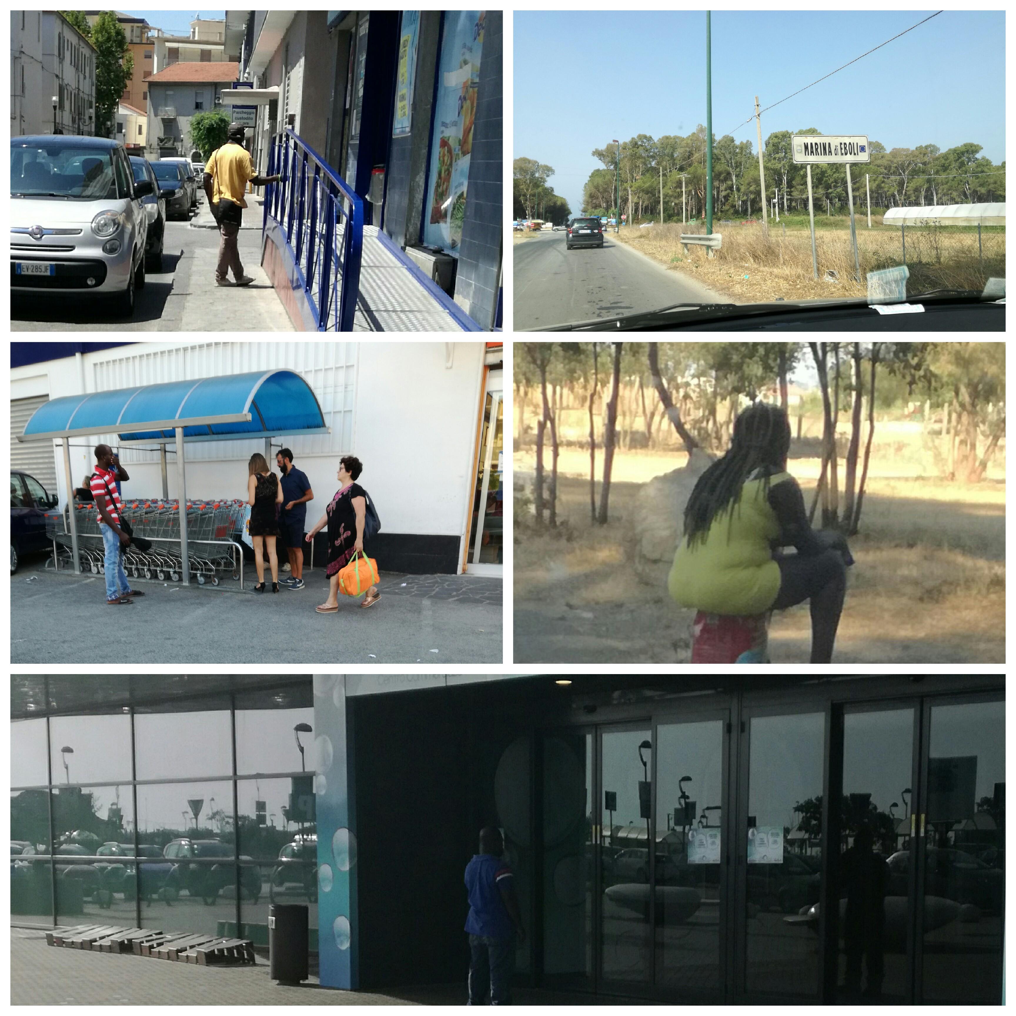 Marina di Eboli-Migranti ai supermercati-prostitute a mare