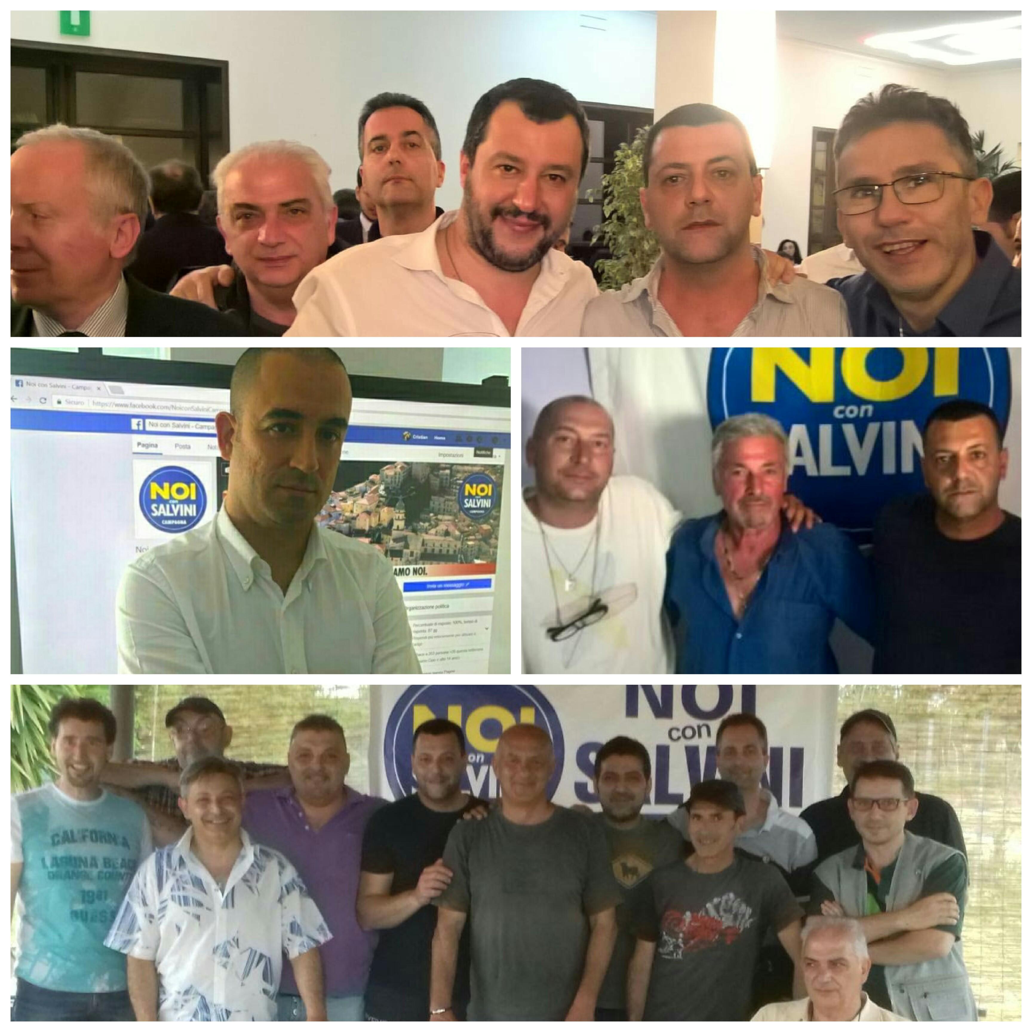 Mateo Salvini con i gruppi di Eboli, Santomenna, Campagna