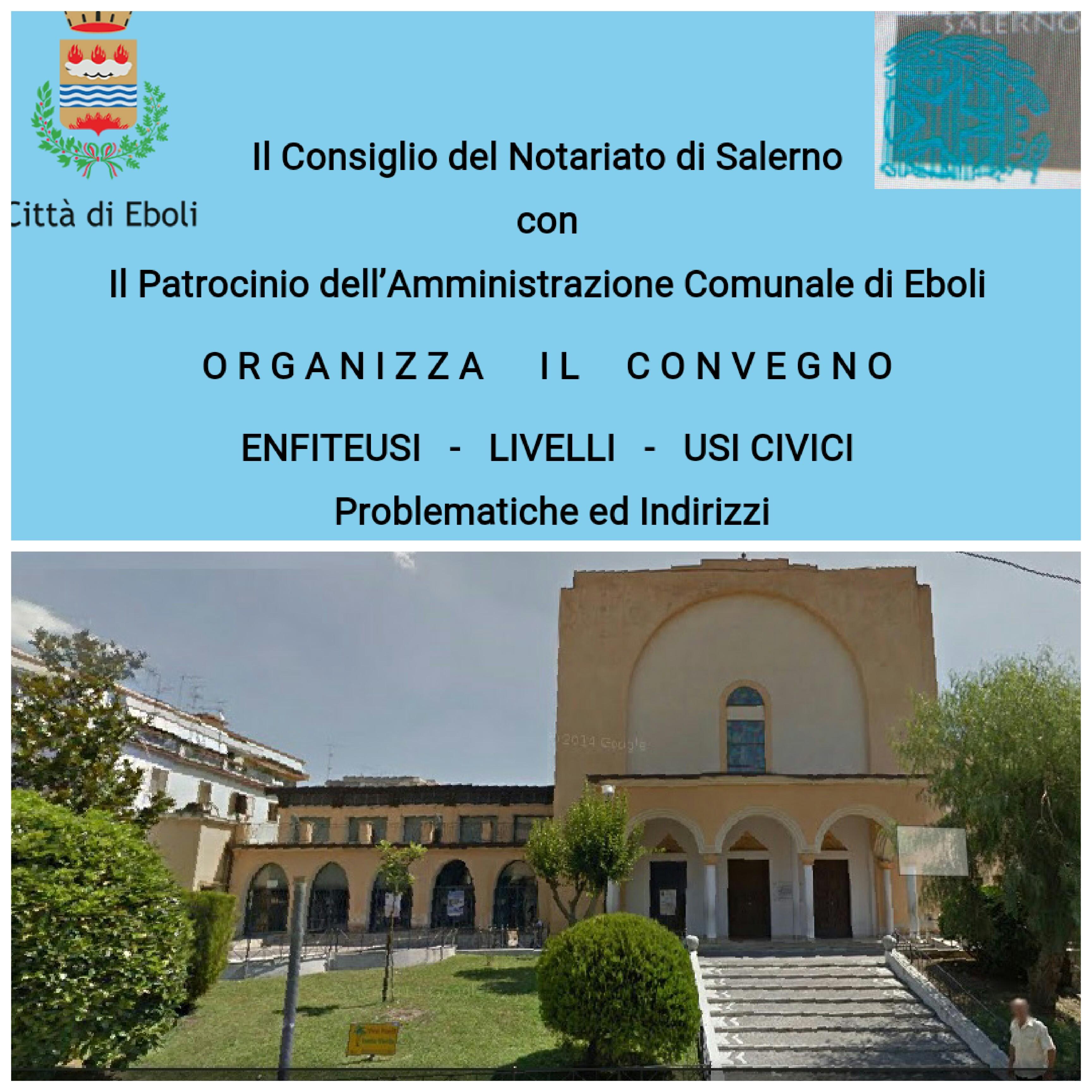 Auditorium San Bartolomeo Eboli-Convegno enfiteusi
