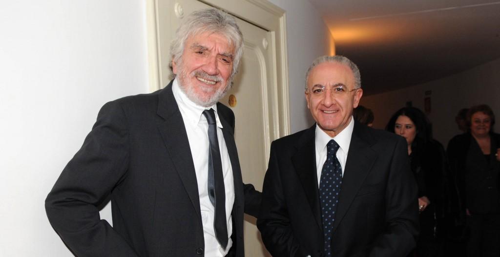 Gigi Proietti e Vincenzo De Luca