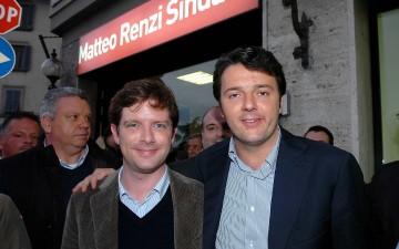 Pippo-Civati-Matteo-Renzi-Inaugurazione-Comitato-Renzi-Foto - Giovanni Andrea Rocchi