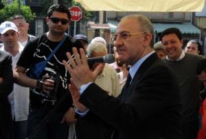 Sindaco Vincenzo De Luca all'inaugurazione di Pastena