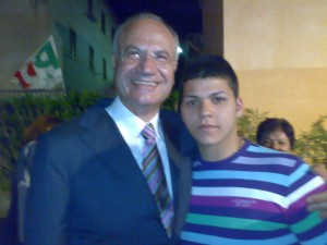 Il Presidente Villani con Giovanni Germano